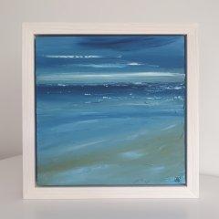 Buy Cornish Art Marielle Cornish Seascape Light Perusian Blue Cloud Framed