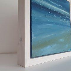 Buy Cornish Art Marielle Cornish Seascape Light Perusian Blue Cloud Framed Sfsdfs