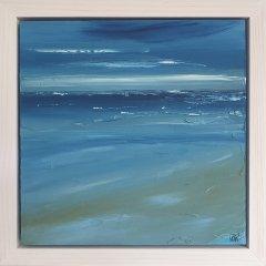 Buy Cornish Art Marielle Cornish Seascape Light Perusian Blue Cloud Framed T