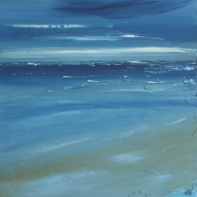 Buy Cornish Art Marielle Cornish Seascape Light Perusian Blue Cloud Framed T G