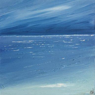 Buy Cornish Art Marielle Cornish Seascape Light Prussian Blue Gallery