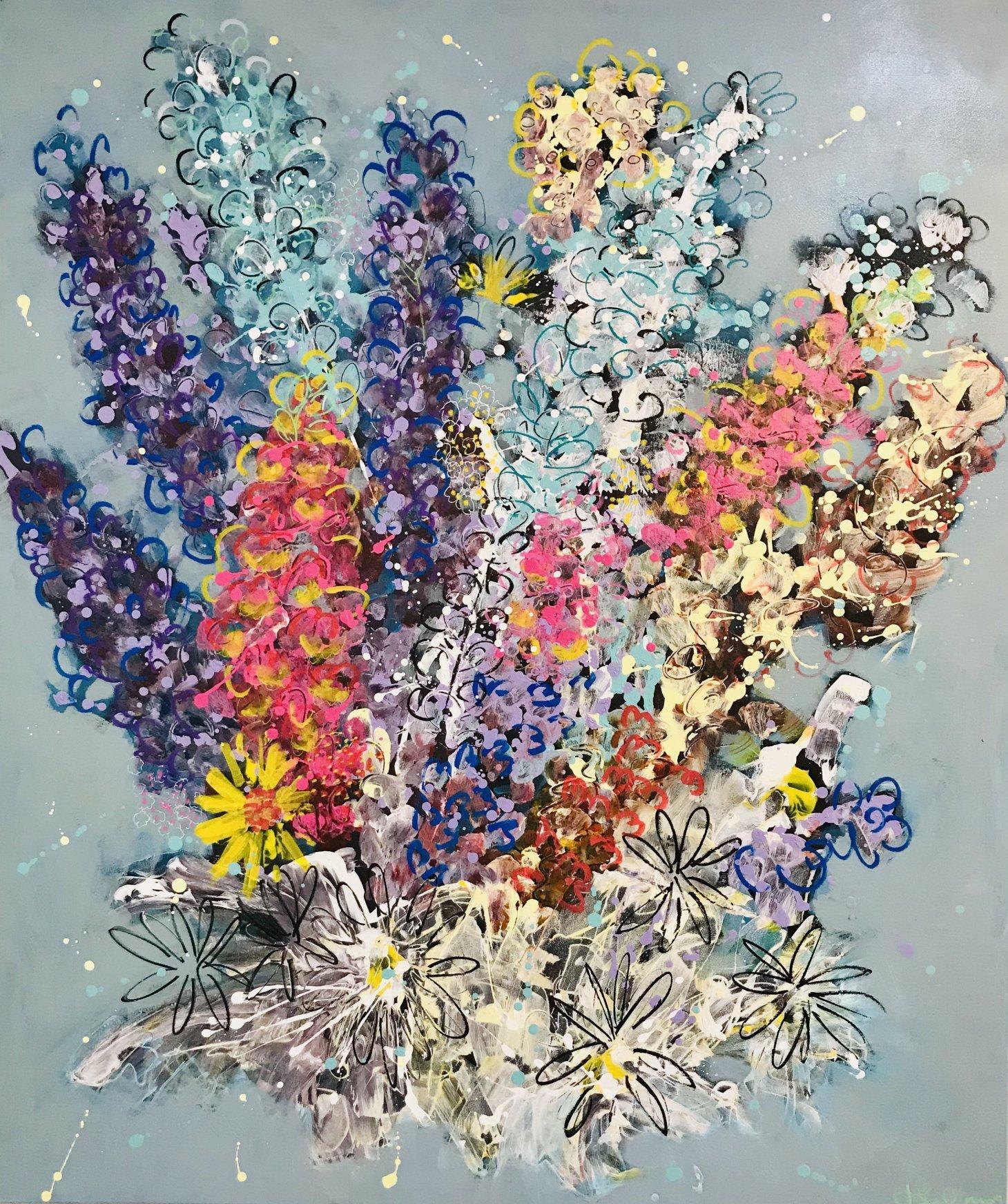 Buy Cornish Art Jo Salmon Flower Riot