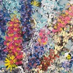 Buy Cornish Art Jo Salmon Flower Riot Detail
