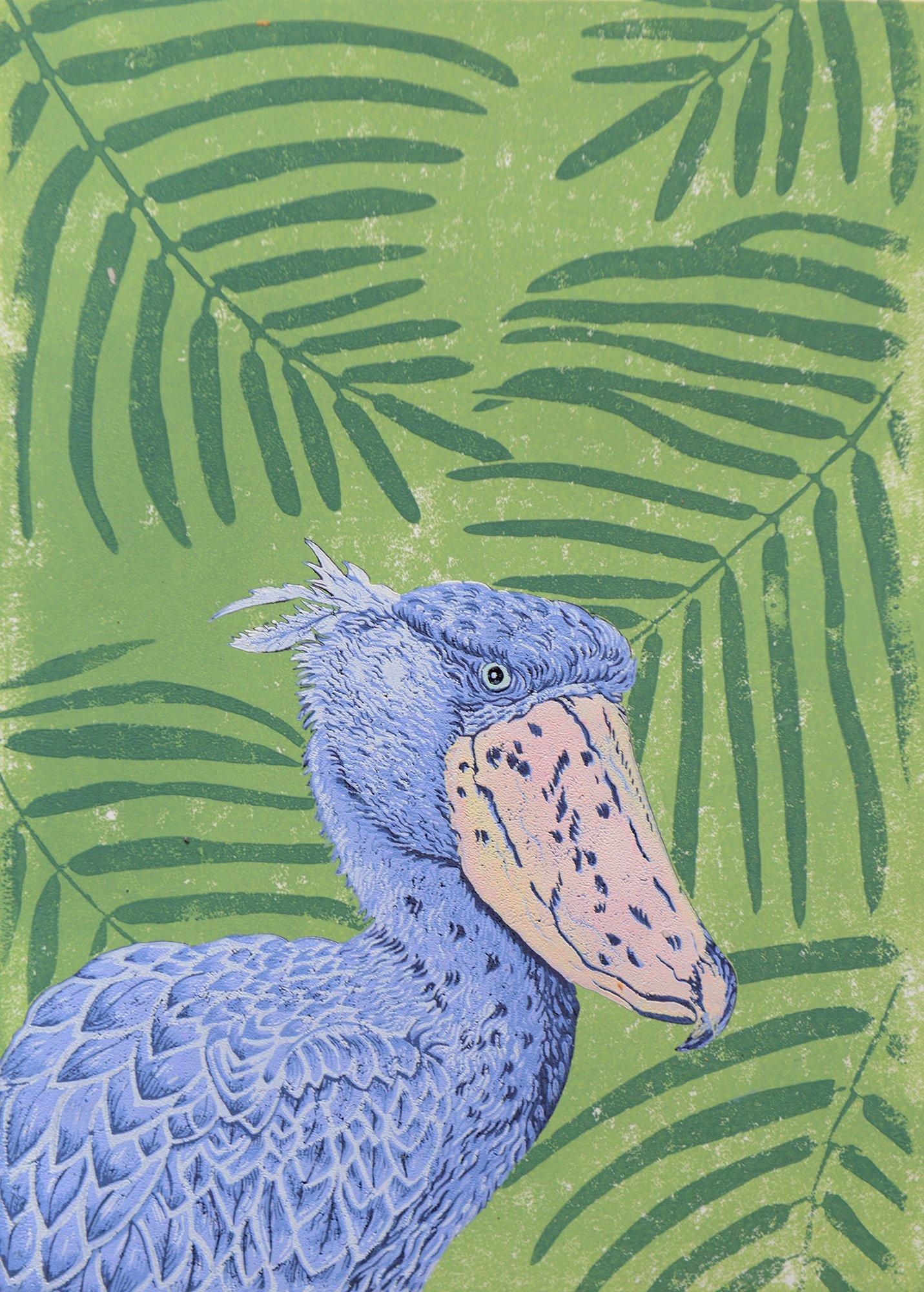 Buy Cornsh Art Beth Munro Shoe Bill Stork Green Background