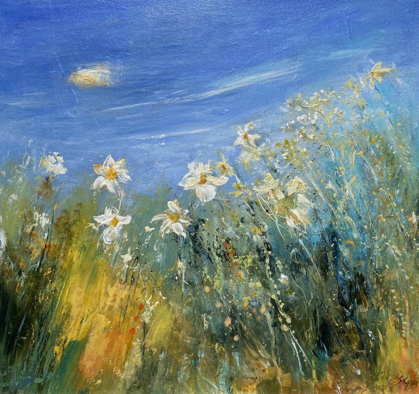 Buy Cornish Art Susan Gray Spring Flowers Cornwall
