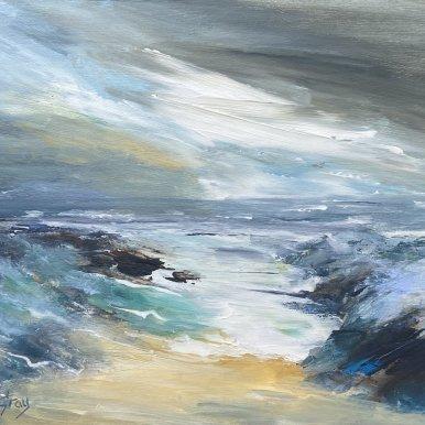 Buy Cornish Art Susan Gray Stormy Sky Cornwall