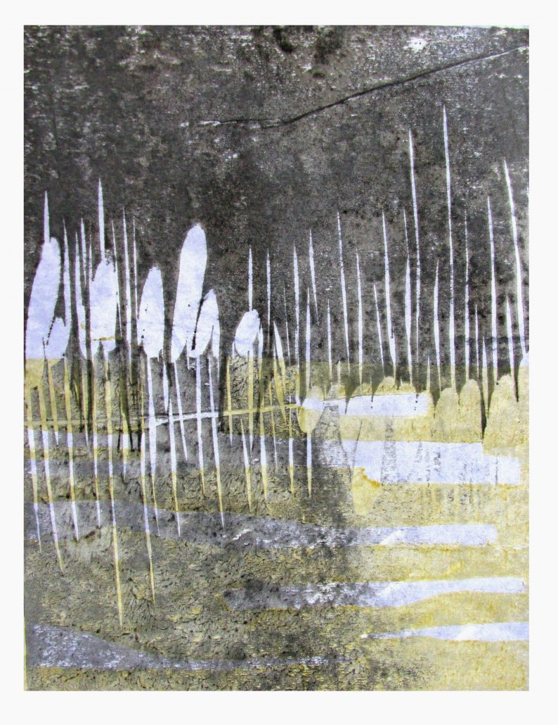 Adrian Holmes - Rushes In Winter - Japanese Woodblock Printing - Medium