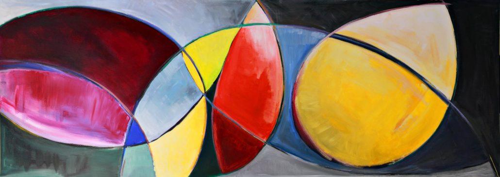 Jane Hagan - Colour Shapes - Acrylic Canvas - Large