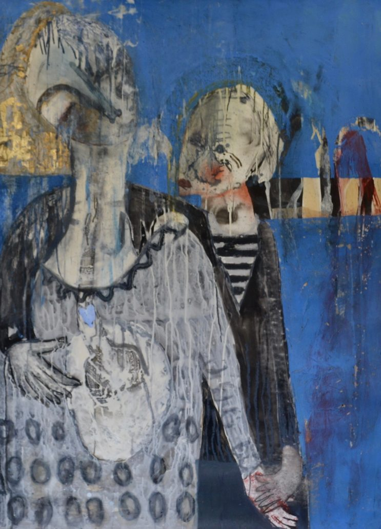 Melanie Young - Two Figures - Canvas Acrylic - Large