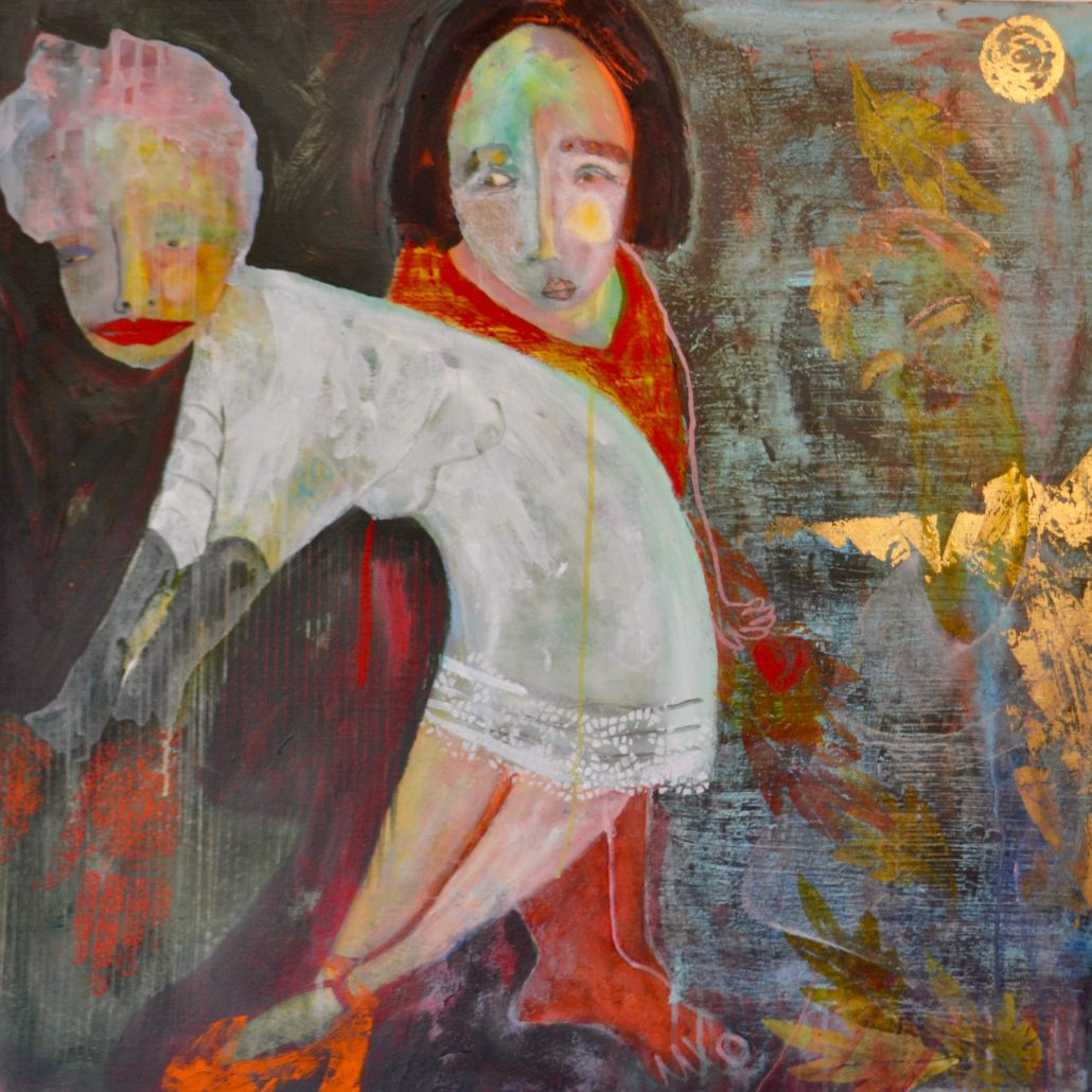 Melanie Young - Gossip Girls - Canvas Acrylic - Large