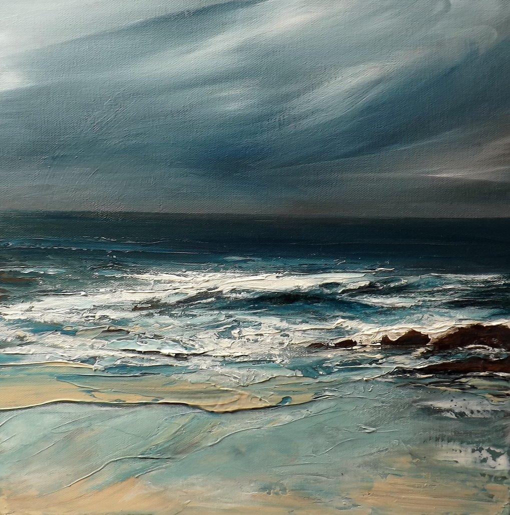 Buy Cornish Art Christine Brunnock Dark Water Porthmeor