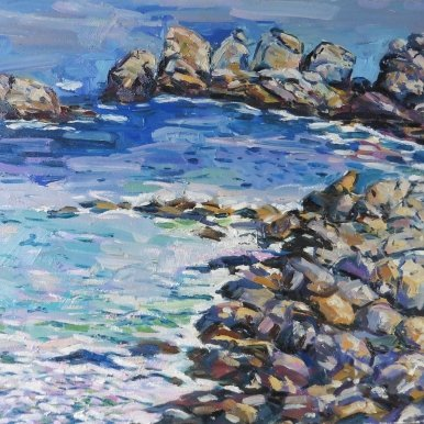 Buy Cornish Art Jim Carey Land Meets See Close Up