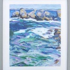 Buy Cornish Art Jim Carey The Sea Is Wild Today