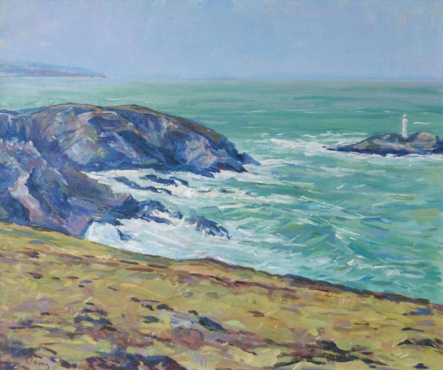 Buy Cornish Art Jim Carey Winter Swell Godrevy