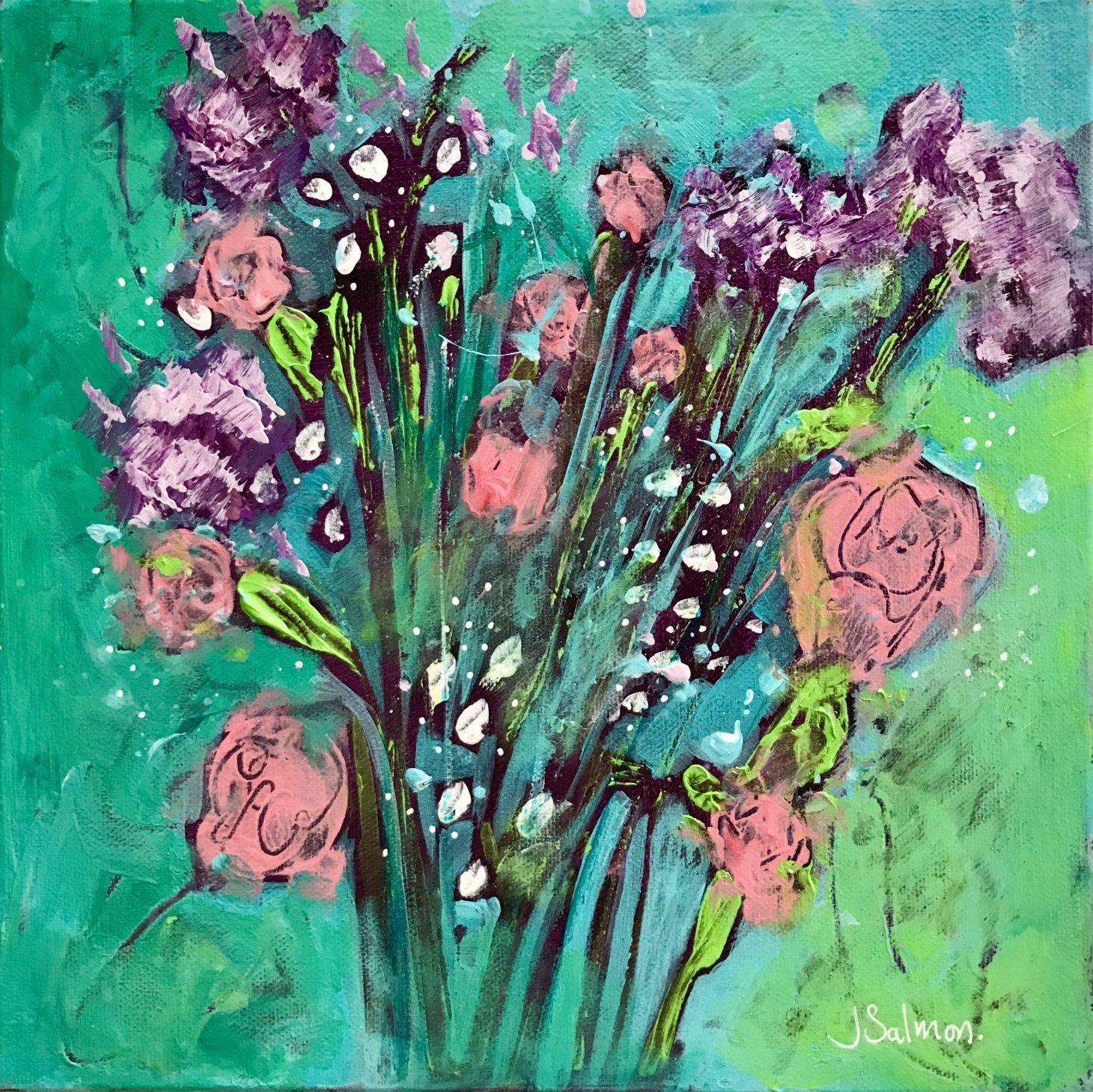 Buy Cornish Art Jo Salmon Floral Explosion 1