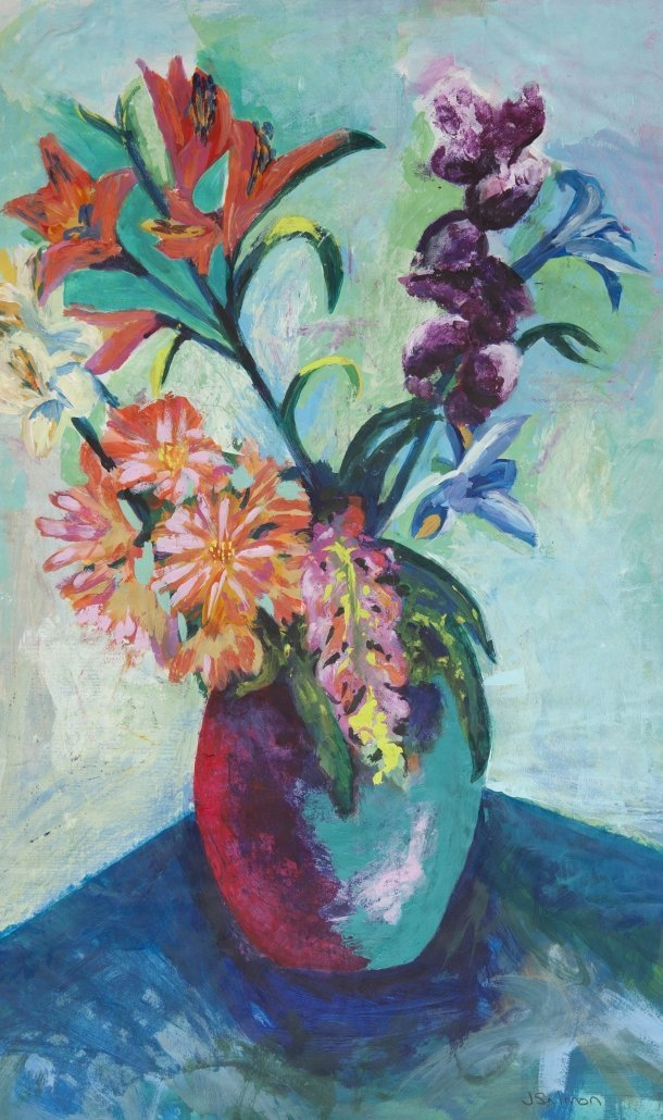 Buy Cornish Art Jo Salmon Flowers