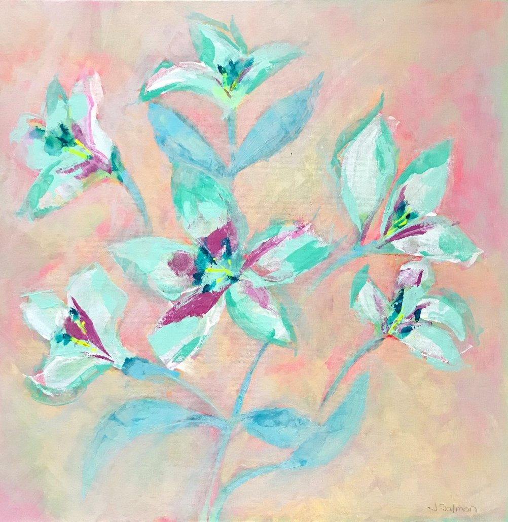 Buy Cornish Art Jo Salmon Pastel Lily