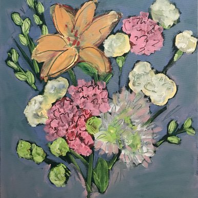 Buy Cornish Art Jo Salmon Pink Carnations P