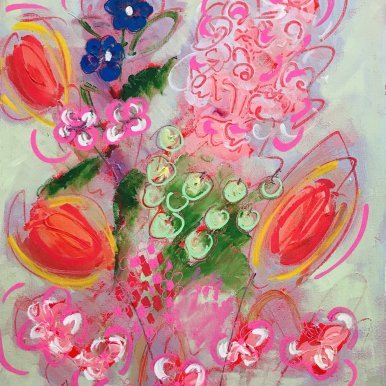 Buy Cornish Art Jo Salmon Tulip And Lupin Explosion 4