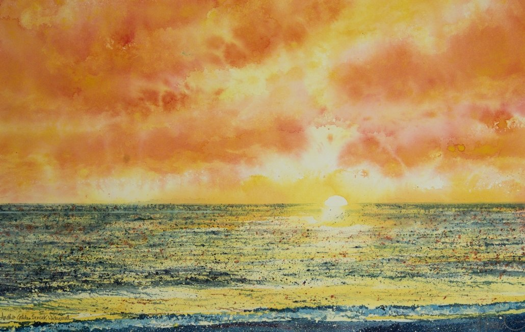 Buy Cornish Art John Forward Golden Sunset