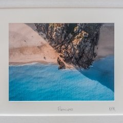 Buy Cornish Art Kernow From Above Porth Curno Framed