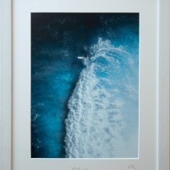 Buy Cornish Art Kernow From Above White Line Frame