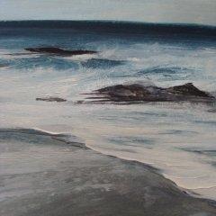 Buy Cornish Art Kerry Bletso Rock Shore Close Up 1
