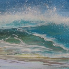 Buy Cornish Art Kerry Bletso Wave Watching Close Up 1.jpg