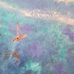 Buy Cornish Art Marielle Arriving At Secret Beach Detail 2