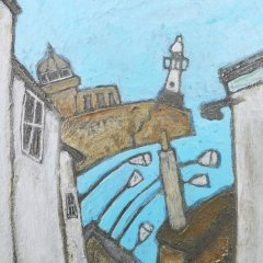Buy Cornish Art Mark Dickens Down Bethesda Hill Close Up 1