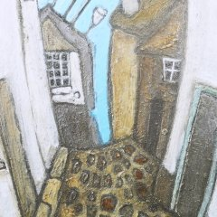 Buy Cornish Art Mark Dickens Down Bethesda Hill Close Up 2