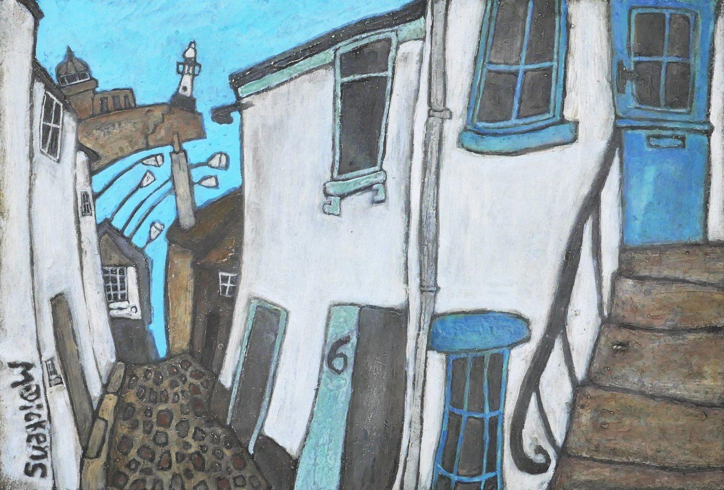Buy Cornish Art Mark Dickens Down Bethesda Hill Primary One. Jpeg