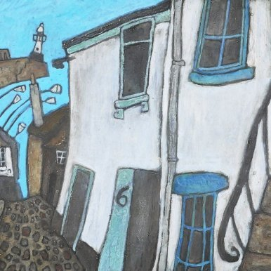 Buy Cornish Art Mark Dickens Down Bethesda Hill Primary One. Jpeg