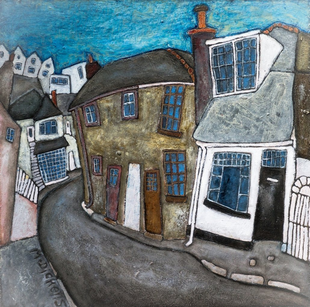 Buy Cornish Art Mark Dickens Street Scene Cornwall