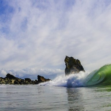 Buy Cornish Art Mr B Wave Beneath The Rock