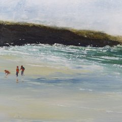 Buy Cornish Art Phil Ford Clouds Over Constantine Bay Detail 2