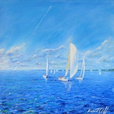 Buy Cornish Art Richard Cliff Across The Bay Primary