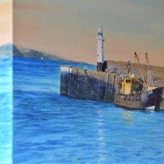 Buy Cornish Art Richard Cliff Mevagissey Evening Sunligh 3