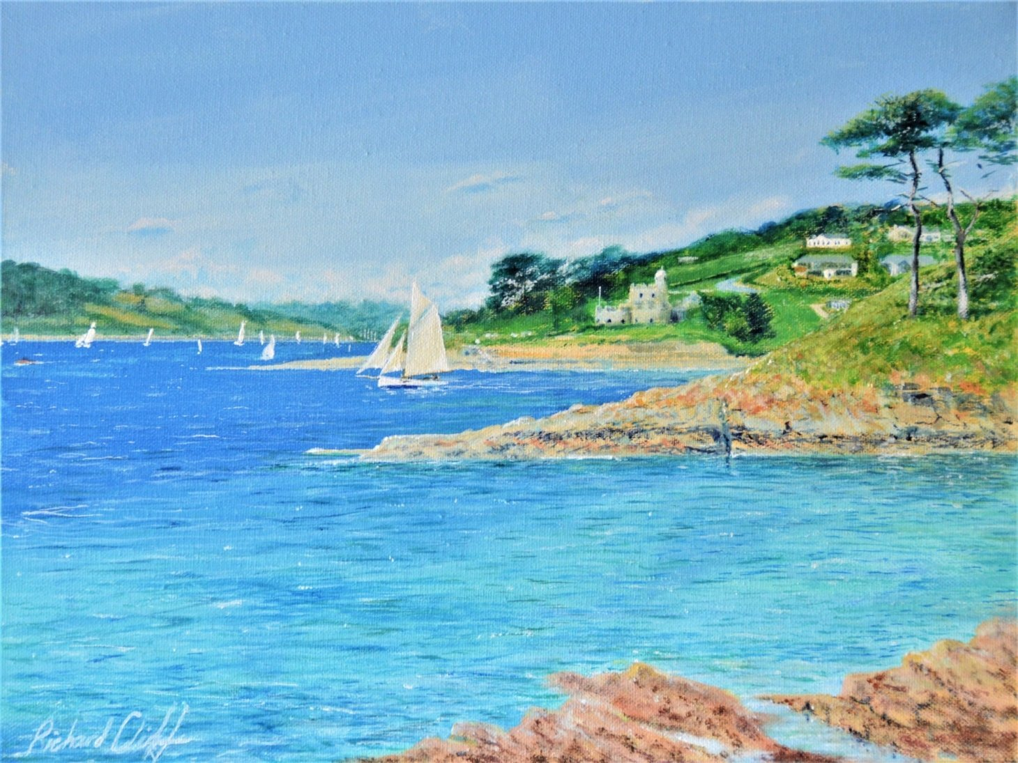 Buy Cornish Art Richard Cliff Sunny St Mawes Castle