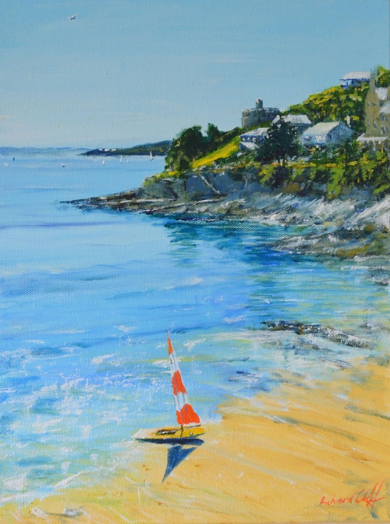 Buy Cornish Art Richard Cliff Topper On Tavern Beach St Mawes