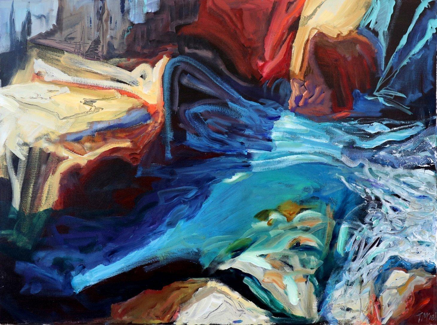 Buy Cornish Art Tony Minnion At The Base Of The Cliff Cligga Cove Primary 1