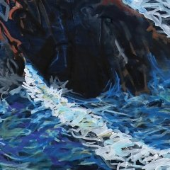 Buy Cornish Art Tony Minnion Cligga Cove Waves Detail