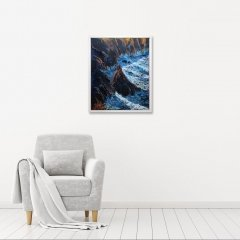 Buy Cornish Art Tony Minnion Cligga Cove Waves In Situ