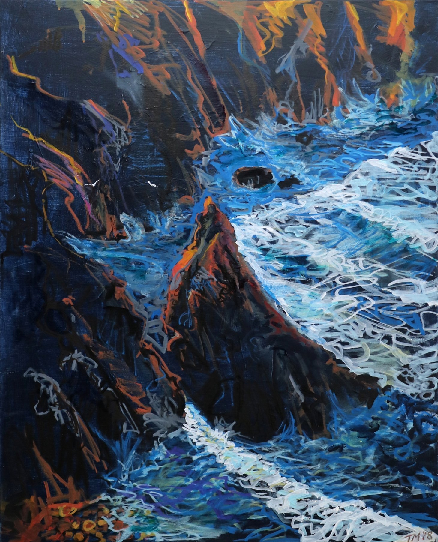Buy Cornish Art Tony Minnion Cligga Cove Waves Primary 2