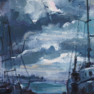 Buy Cornish Art Victoria Gallow Evening Boatyard