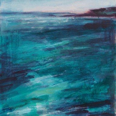 Buy Cornish Art Victoria Gillow Long Teal Estuary