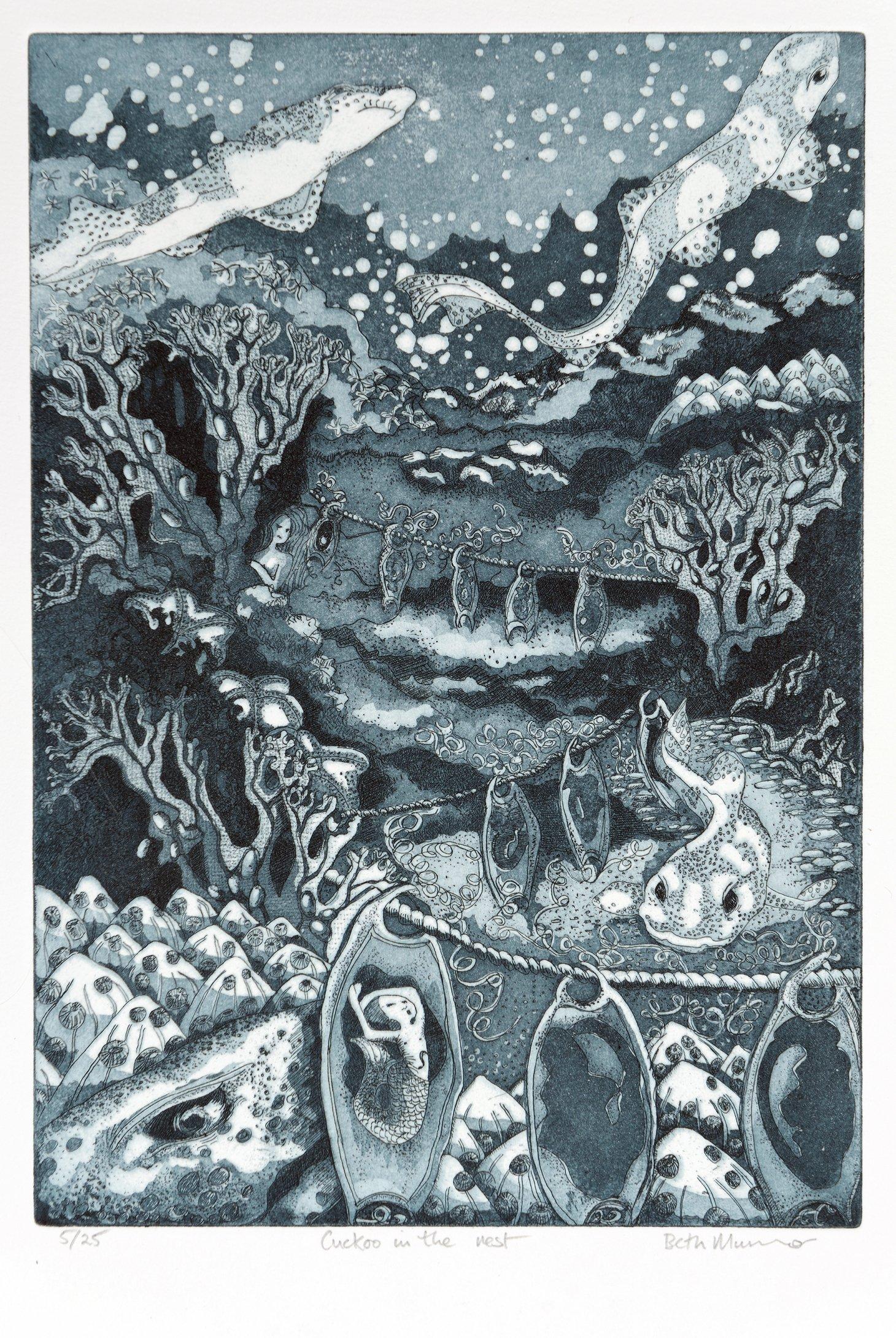 Buy Cornsh Art Beth Munro Cockoo In The Nest