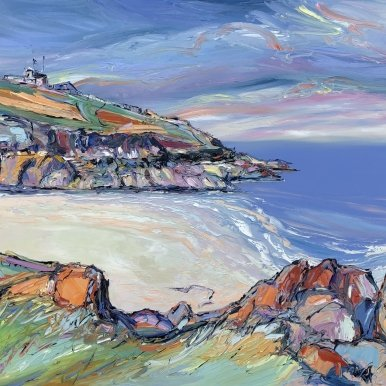 Buy Original Art Joe Armstrong Porhtgwiiden Greek Blue Sea