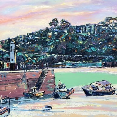 Buy Original Art Joe Armstrong St Ives Smeaton's Pier