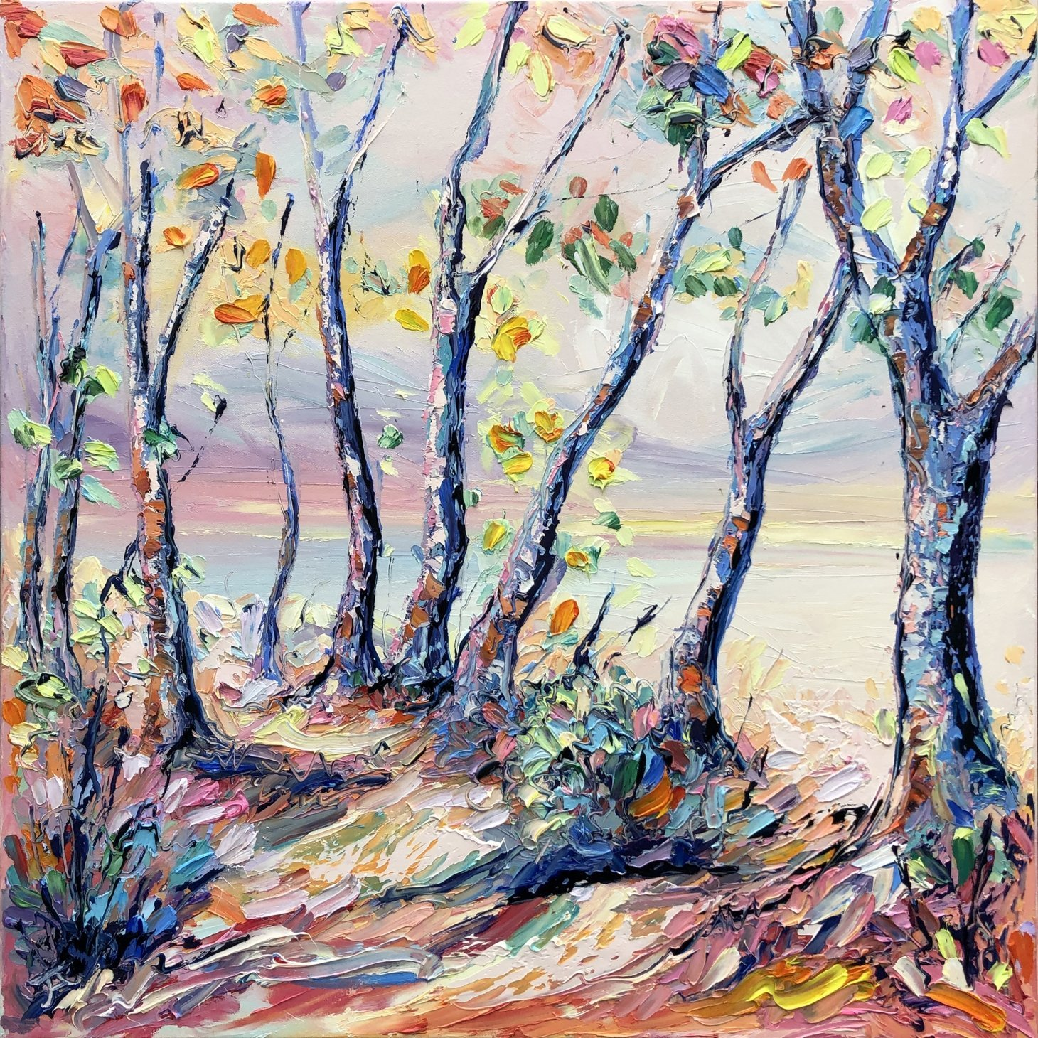 Buy Original Art Joe Armstrong Trelissick Autumn Woodland Walk